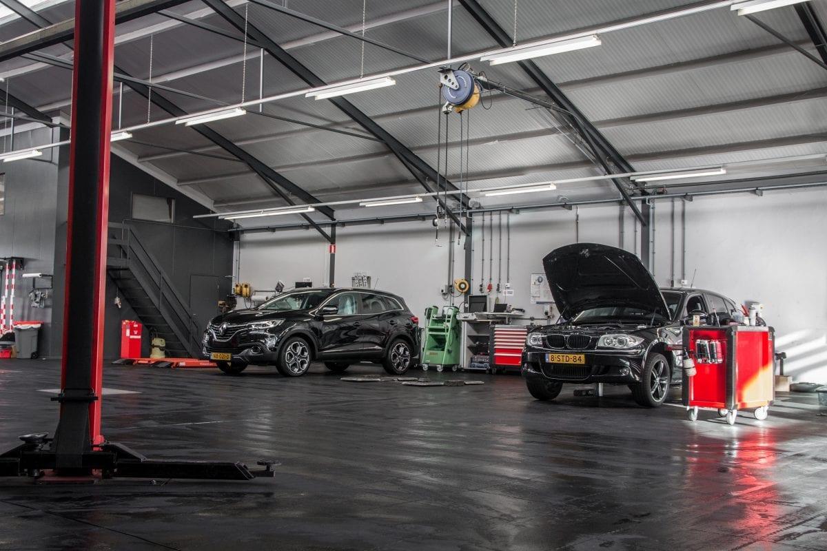 Garagevloer PVC tegels zwart