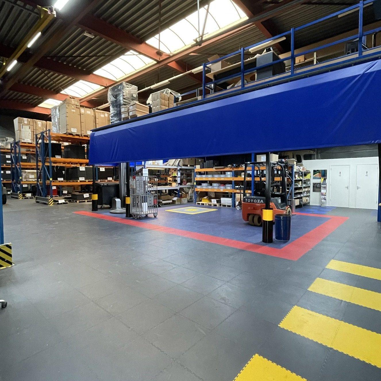 PVC kliktegels werkplaatsvloer