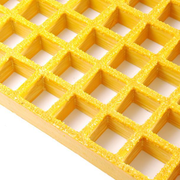Glasvezel rooster anti-slip geel ipv persrooster - Floormaxx