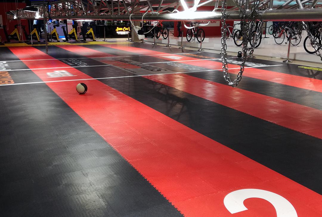 Beursvloer sportvloer pvc tegels Floormaxx